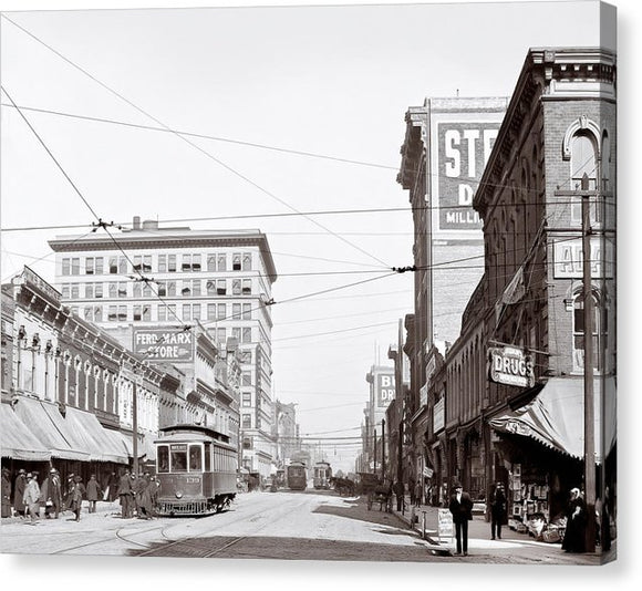 Downtown Birmingham Alabama - A Century Ago - Canvas Print