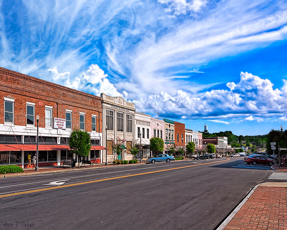 Downtown Montezuma - Georgia Art Print