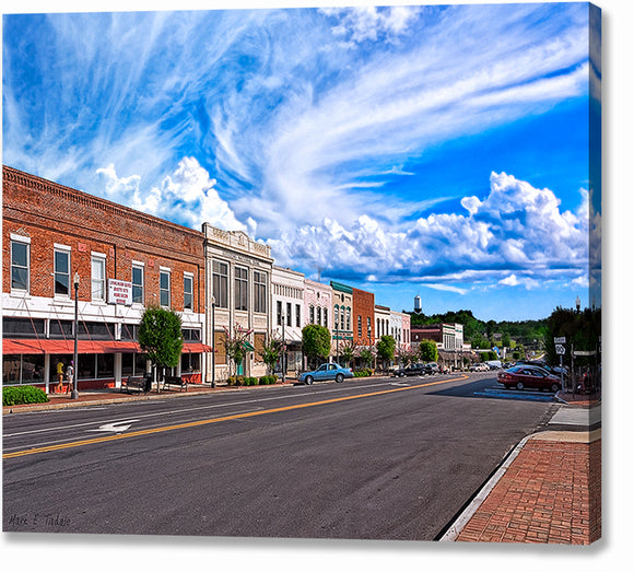 Downtown Montezuma - Georgia Canvas Print