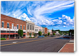 Downtown Montezuma - Georgia Greeting Card