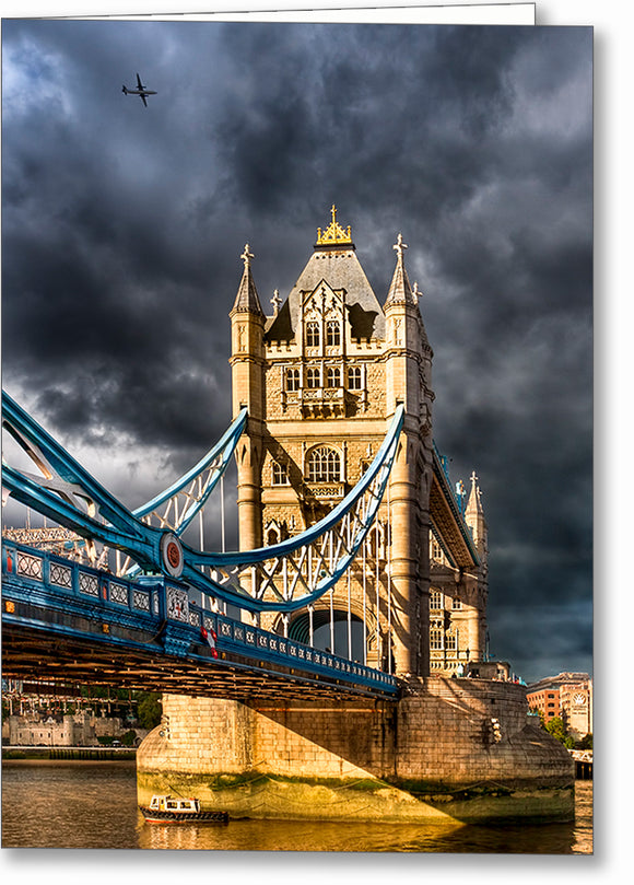 Dramatic London View - Tower Bridge Greeting Card