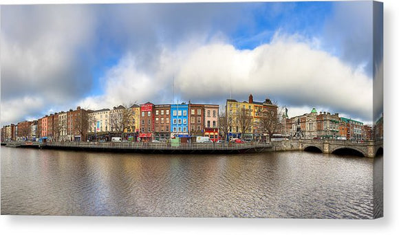 Dublin Ireland Panorama - Canvas Print