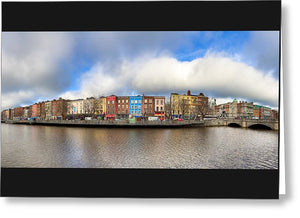 Dublin Ireland Panorama - Greeting Card