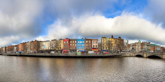 Dublin Ireland Panorama - Art Print