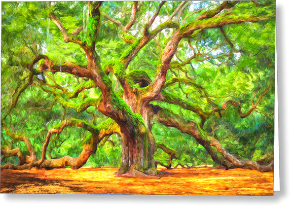 Enduring Angel Oak - South Carolina Landscape Greeting Card