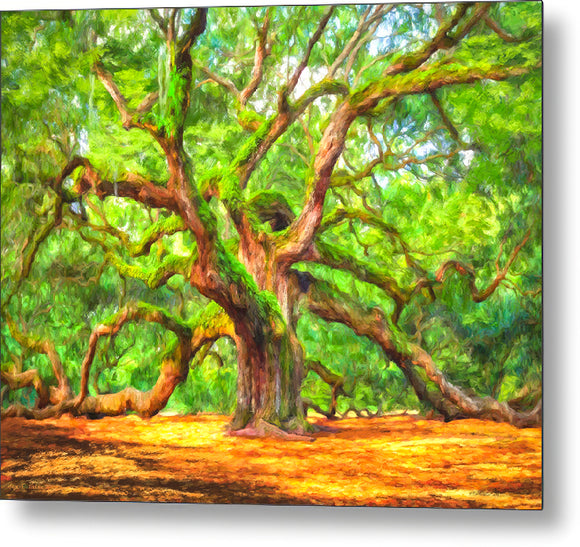 Enduring Angel Oak - South Carolina Landscape Metal Print