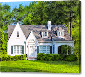 English Cottage Style Home - Georgia Canvas Print