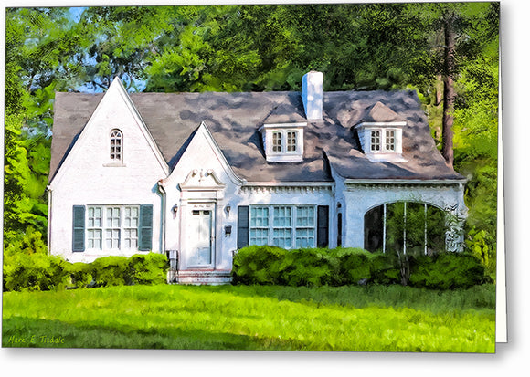 English Cottage Style Home - Georgia Greeting Card