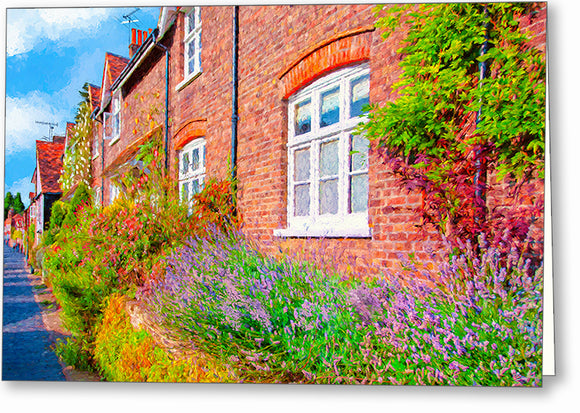 English Garden - St Albans Greeting Card