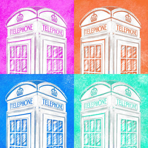 English Phone Booth - Pop Art Style Art Print