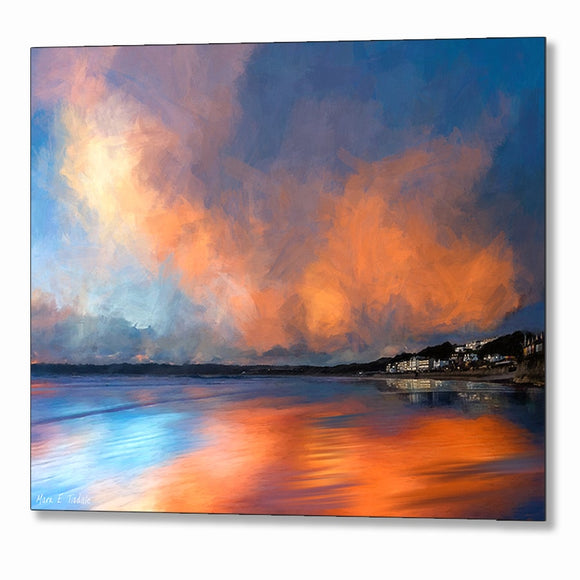 Eventide By The Sea - Abstract Sunset Metal Print