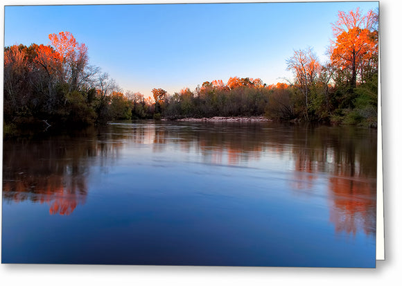 Fall Landscape - Flint River Greeting Card