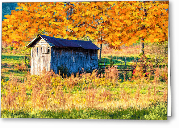 Fall Landscape - North Georgia Greeting Card