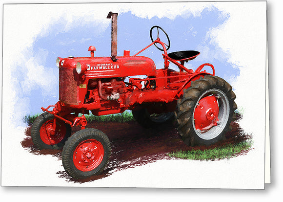 Farmall Cub Tractor - Agriculture Greeting Card