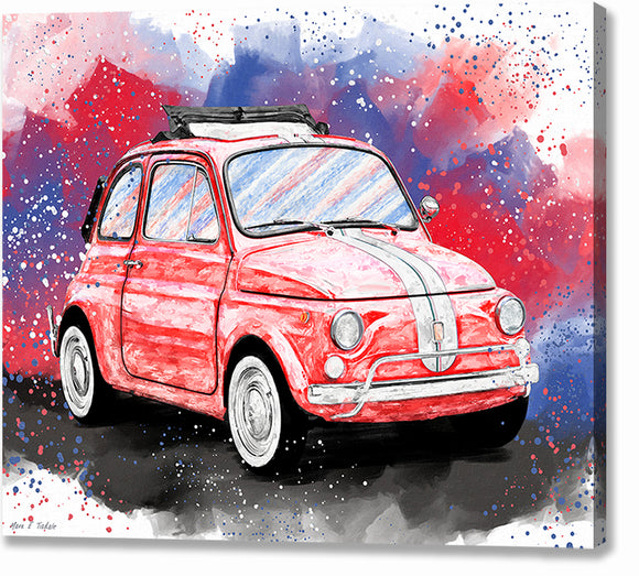Fiat 500 L - Classic Car Canvas Print