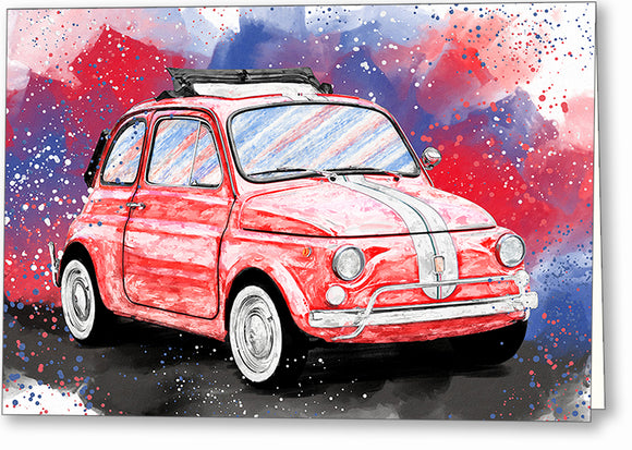 Fiat 500 L - Classic Car Greeting Card