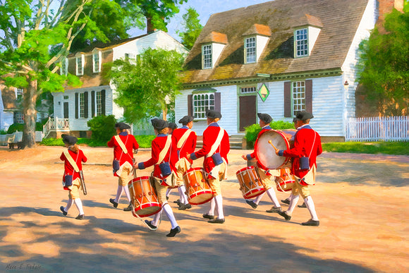 Fife and Drum Corps - Colonial America Art Print