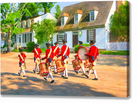 Fife and Drum Corps - Colonial America Canvas Print