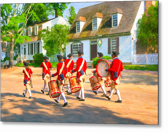 Fife and Drum Corps - Colonial America Metal Print