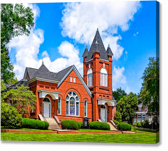 First Baptist Church - Montezuma Georgia Canvas Print