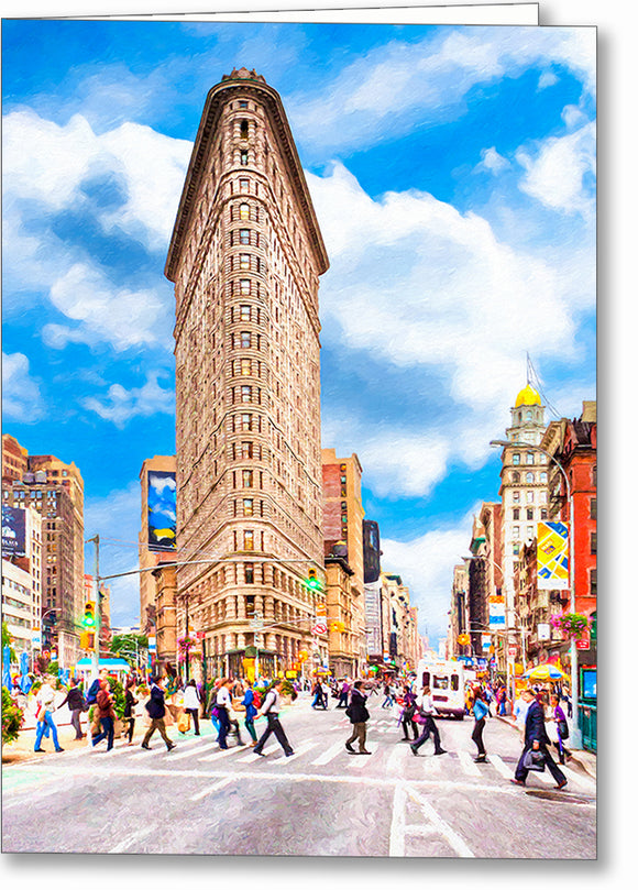 Flatiron Building - New York City Greeting Card
