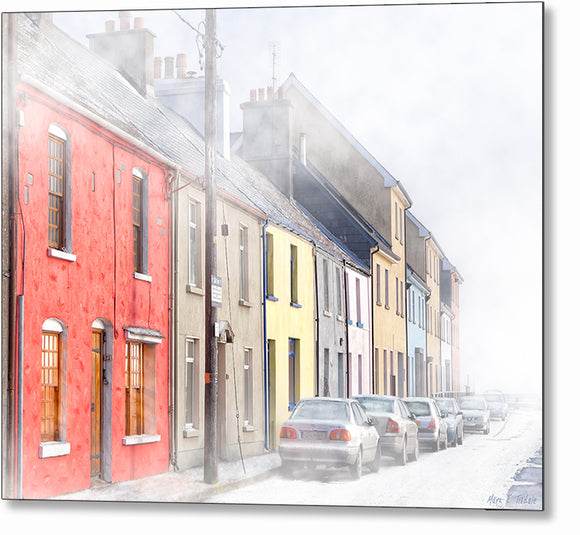 Foggy Morning On The Long Walk - Galway Ireland Metal Print