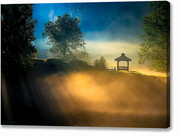 Foggy Sunrise Landscape - Georgia Canvas Print
