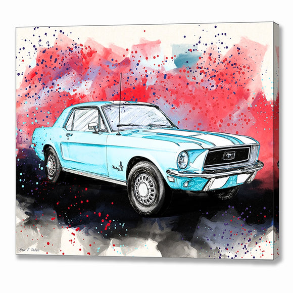 Ford Mustang - Classic Car Canvas Print