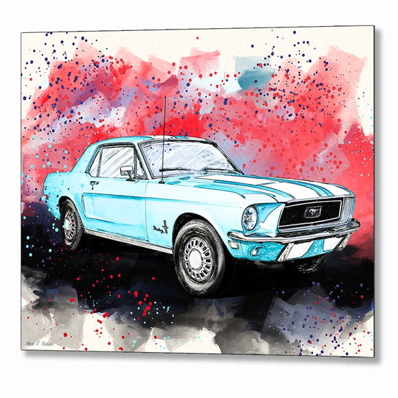 Ford Mustang - Classic Car Metal Print