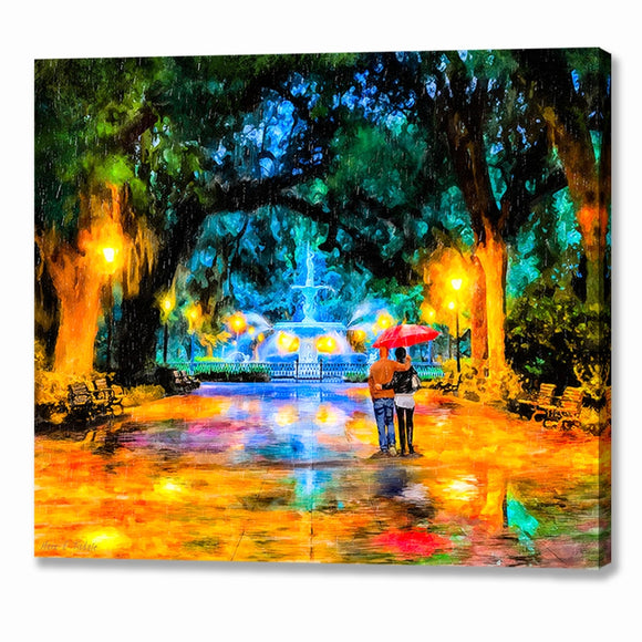Forsyth Park Fountain - Savannah Georgia Canvas Print