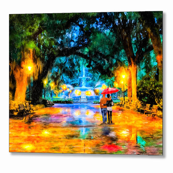 Forsyth Park Fountain - Savannah Georgia Metal Print