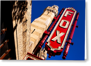 Fox Theatre - Atlanta Landmark Greeting Card