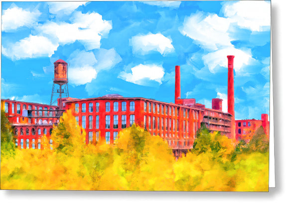 Fulton Cotton Mill - Historic Atlanta Greeting Card