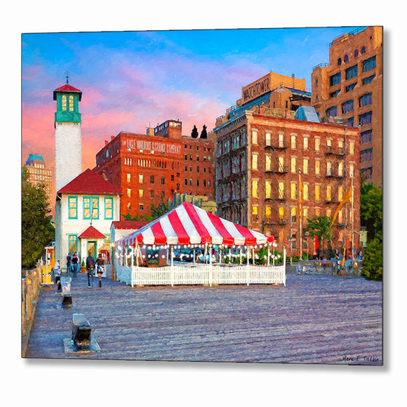 Fulton Ferry Landing - Brooklyn Metal Print