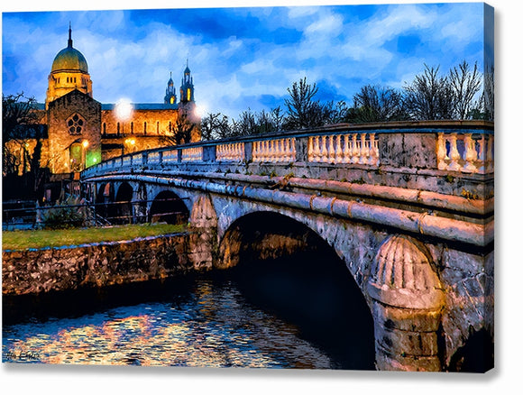 Galway Cathedral - Ireland Dusk Canvas Print