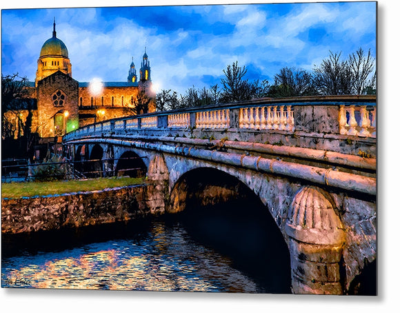 Galway Cathedral - Ireland Dusk Metal Print