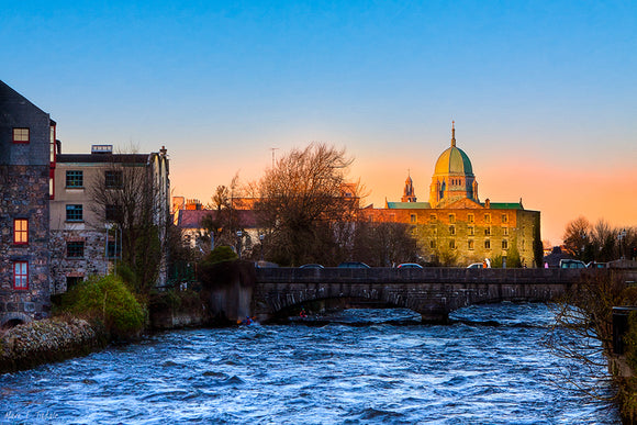 Galway Cathedral - Irish Sunset Art Print