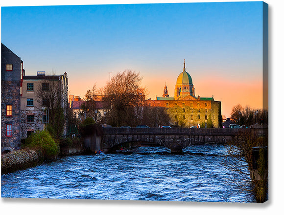 Galway Cathedral - Irish Sunset Canvas Print