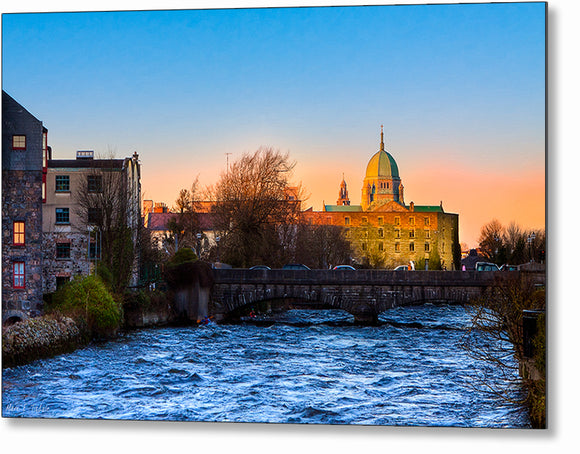 Galway Cathedral - Irish Sunset Metal Print