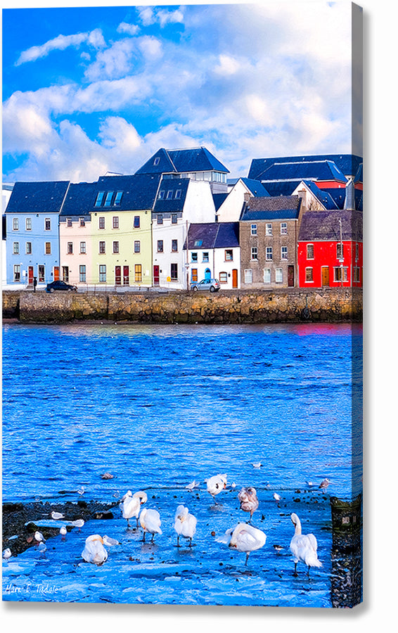 Galway Water View - Irish Canvas Print