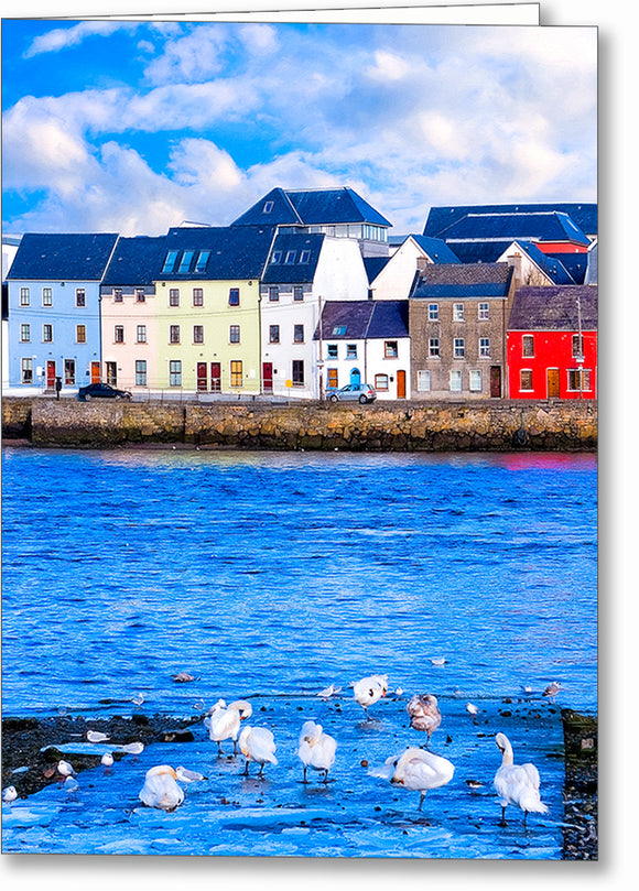 Galway Water View - Irish Greeting Card