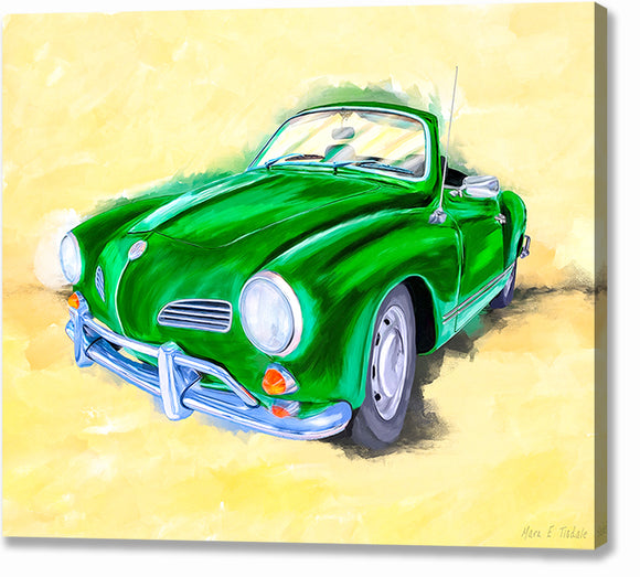 Green Karmann Ghia - Classic Car Canvas Print