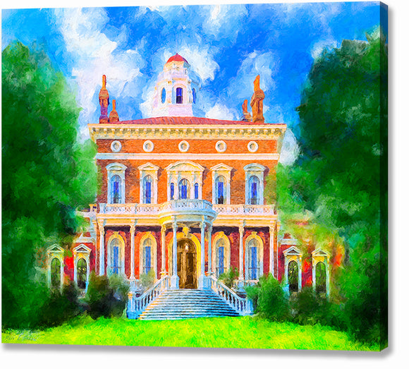 Hay House - Macon Georgia Canvas Print