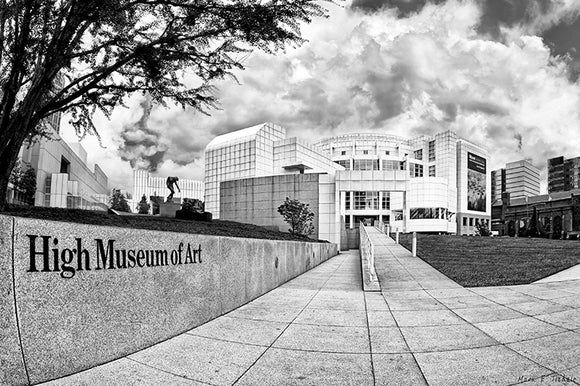 High Museum - Atlanta Black And White Art Print