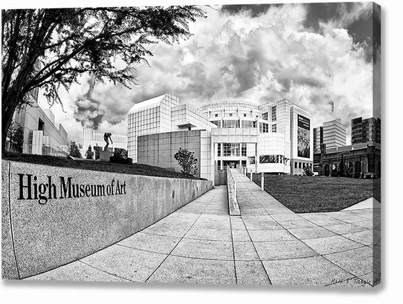 High Museum - Atlanta Black And White Canvas Print
