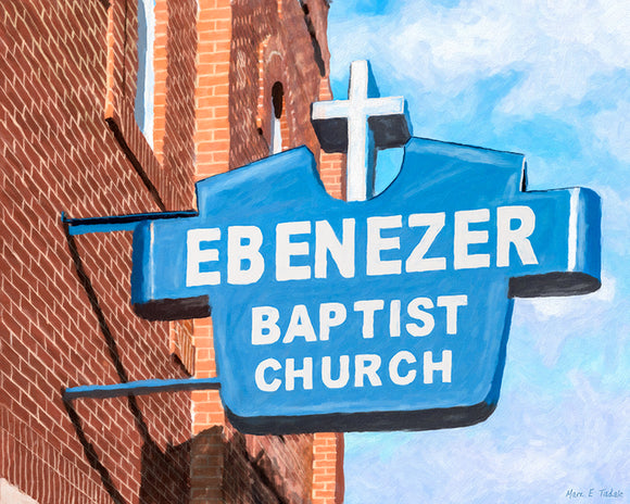 Historic Ebenezer Baptist Church - Sweet Auburn Art Print