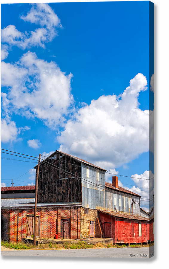 Historic Industrial Warehouse - Hawkinsville Georgia Canvas Print