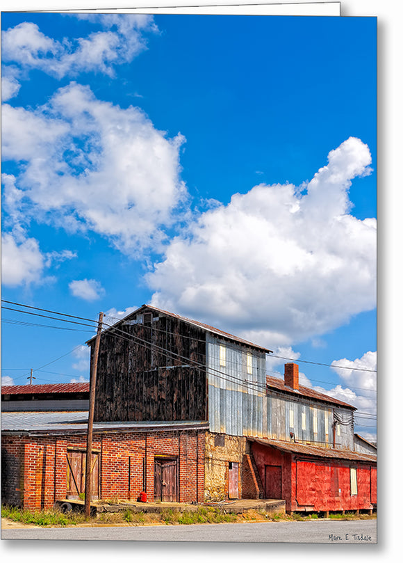 Historic Industrial Warehouse - Hawkinsville Georgia Greeting Card