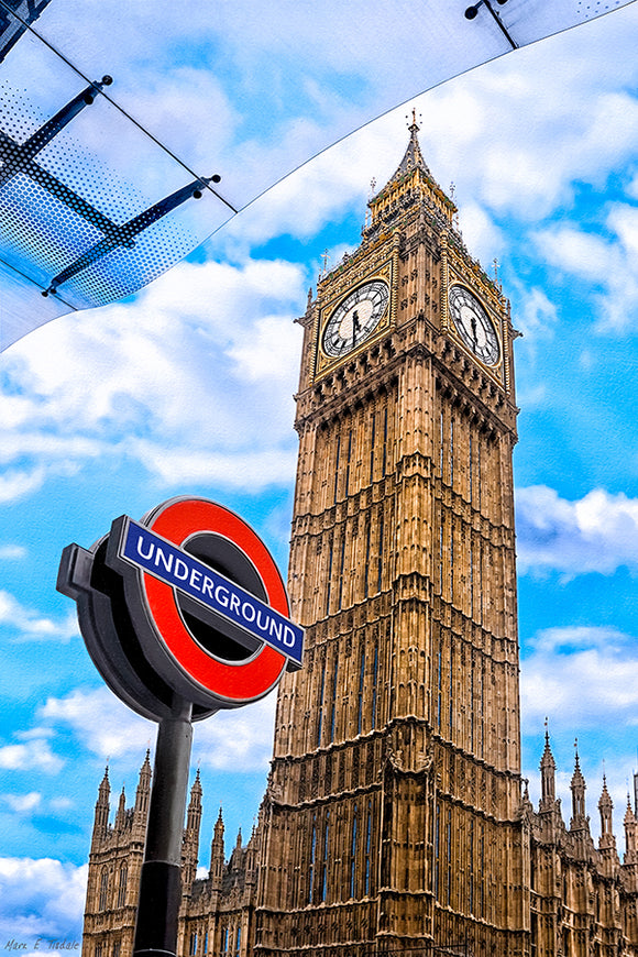 Iconic London Architecture - Big Ben Art Print