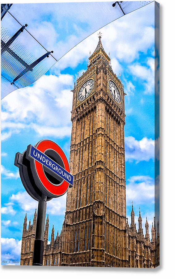 Iconic London Architecture - Big Ben Canvas Print